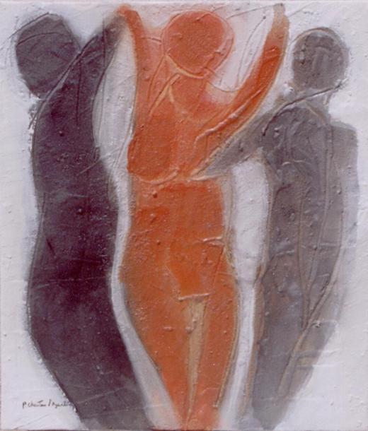 Figuras em Areia XVII (Três figuras)