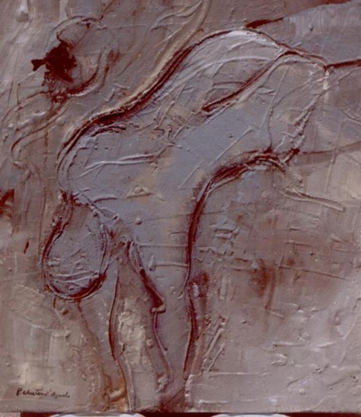 Figura em Areia XVI (Caindo)