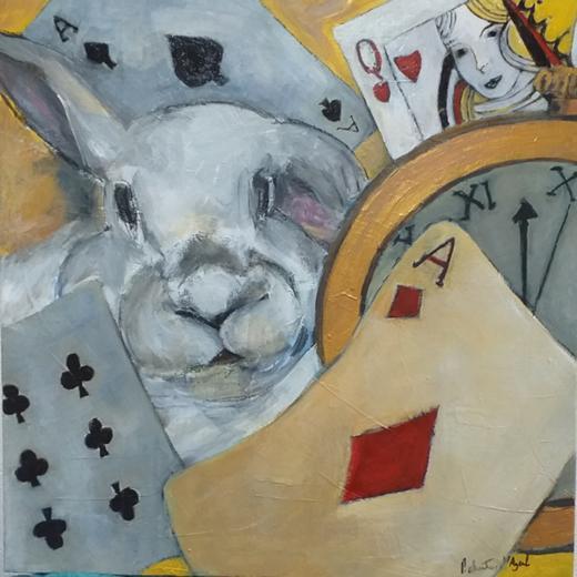 Coelho Branco personagem fictício da obra literária produzida por Lewis Carroll.